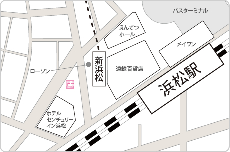 脱毛ラボ浜松店アクセスマップ