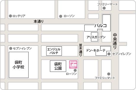 脱毛ラボ広島店アクセスマップ