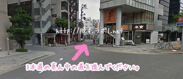 脱毛ラボ名古屋駅前店へのアクセスマップ。道順。