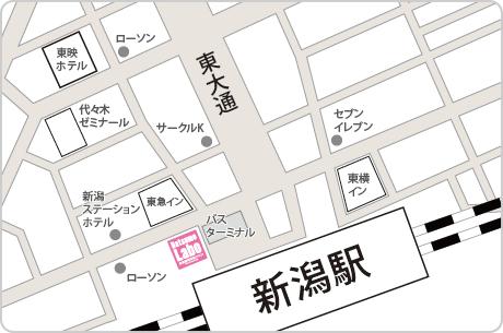 脱毛ラボ新潟店アクセスマップ