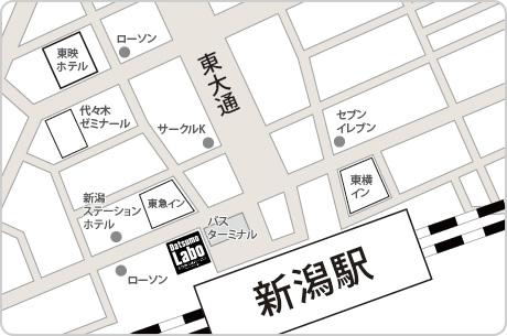 脱毛ラボ新潟メンズ店アクセスマップ