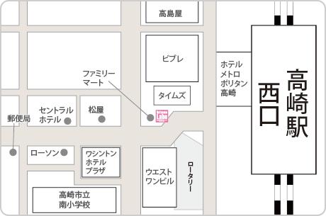 脱毛ラボ高崎店アクセスマップ