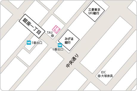 脱毛ラボ銀座プレミアム店アクセスマップ
