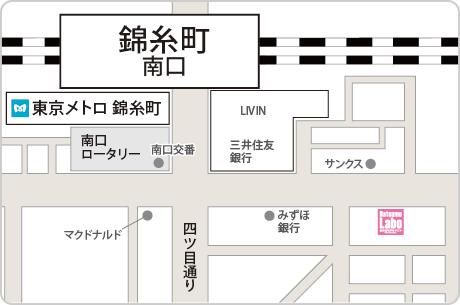 脱毛ラボ錦糸町店アクセスマップ