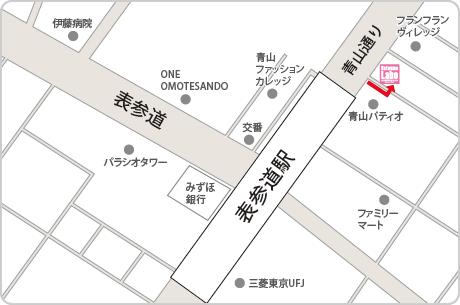 脱毛ラボ表参道店アクセスマップ